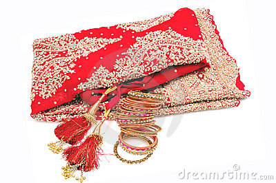 Indian Bridal lehnga with bangles