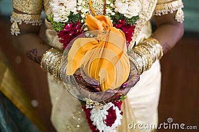 Indian bride with henna design