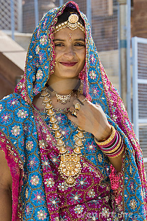 Indian Bride in Rajasthan - India Editorial Photography