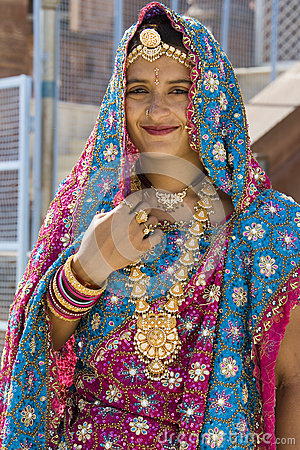 Indian Bride - Varanasi - India Editorial Photography