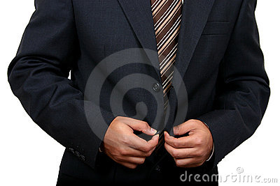 Indian Business man getting ready to go to office (2)