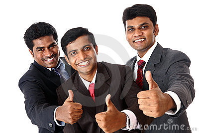 Indian business people cheer up