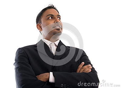 Indian businessman looking away