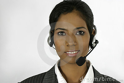 Indian call centre executive