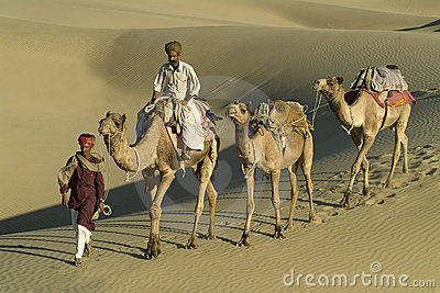 Indian Camel Caravan 6 Editorial Photo
