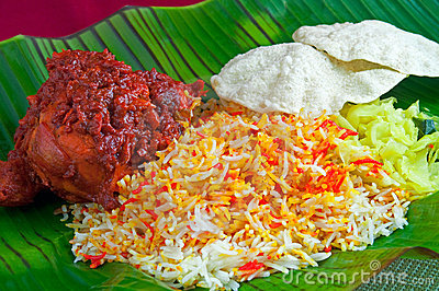 Indian Chicken Briyani Rice