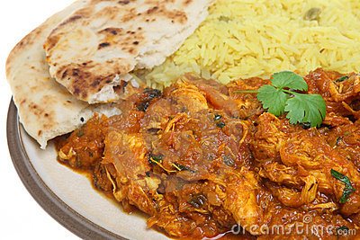 Indian Chicken Curry with Rice & Naan