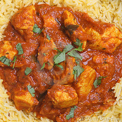Indian Chicken Madras Curry & Rice