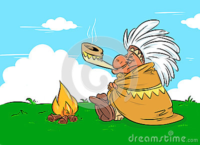 Indian chief calumet