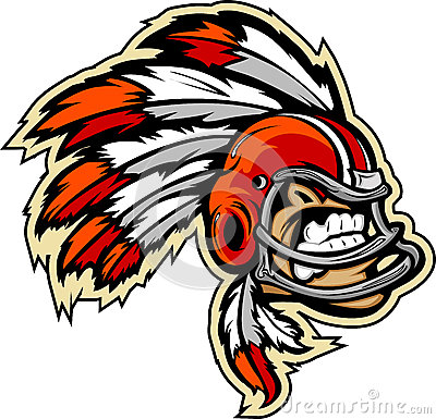 Indian Chief Football Mascot