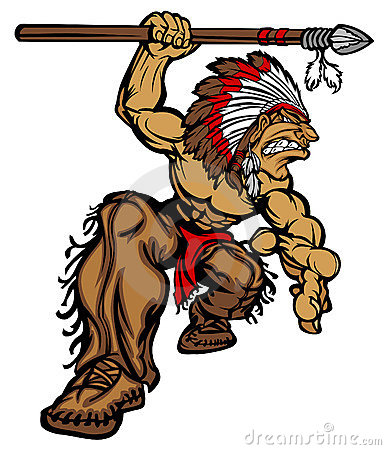 Indian Chief Mascot Cartoon Vector Logo