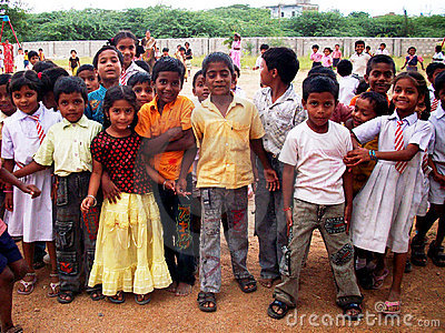 Indian children Editorial Photography