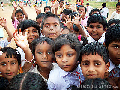 Indian children Editorial Stock Photo