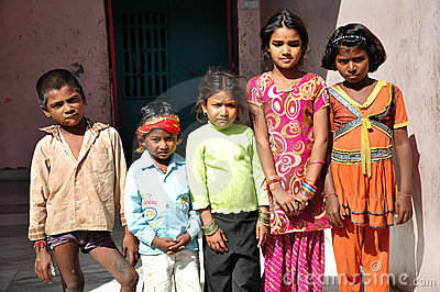 Indian children Editorial Stock Image