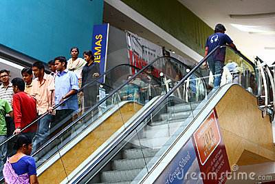 Indian Cinema Crowd at Forum Mall Bangalore Editorial Stock Image