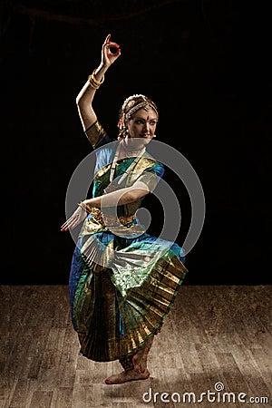 Indian Classical Dance Bharatanatyam Dancer Stock Photo ...