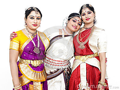 Indian classical female dancers