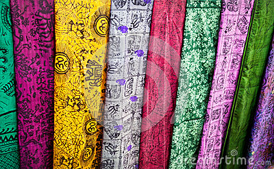 Indian cloth in market