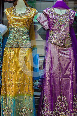 Indian Clothing Dresses Detail Editorial Stock Image