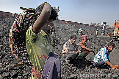 Indian Coal Worker Editorial Image