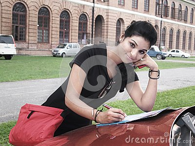 Indian college student.