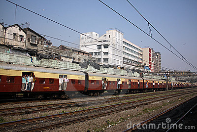 Indian Commuter Train Editorial Image
