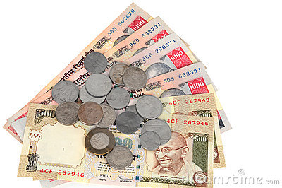 Indian currency and coins