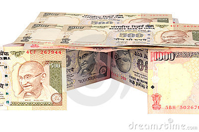 Indian currency house