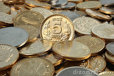 Indian currency money coins