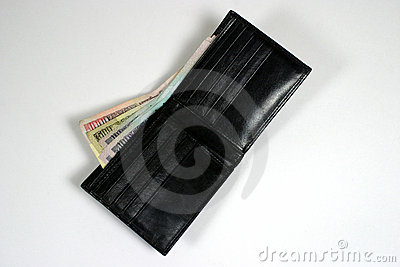 Indian currency in wallet