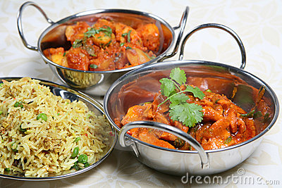 Indian Curry Dinner Meal