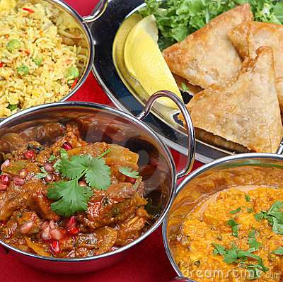 Free Indian Curry Meal Food Stock Photography - 5429342