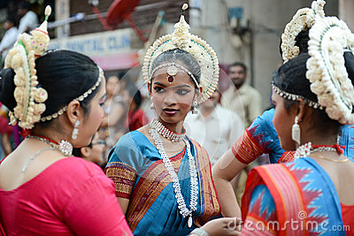 Indian dancers Editorial Image