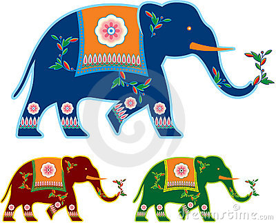 Indian Decorated Elephant