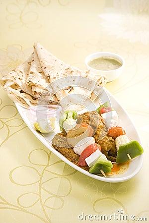 Free Indian Dish Kathi Kebab Stock Photos - 39493663