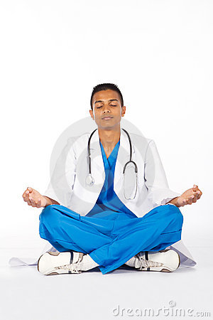 Indian doctor meditation