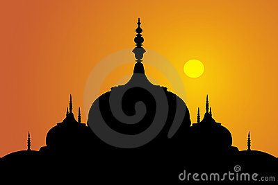 Indian domes sunset