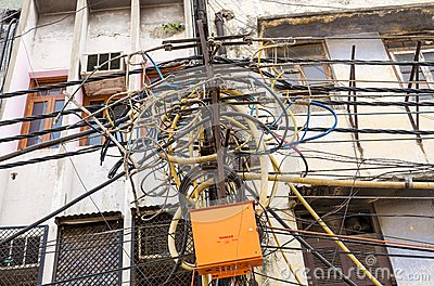 Electrical Wiring In India Editorial Stock Photo - Image: 18348913