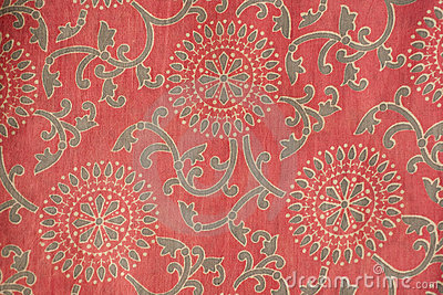 Indian Fabric With Traditional Design Royalty Free Stock