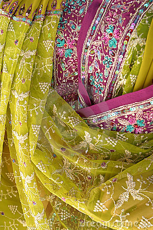 Free Indian Fabrics Royalty Free Stock Images - 616729