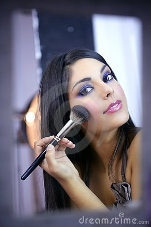 Free Indian Fashion Model Makeup With Brush Stock Photo - 10539060