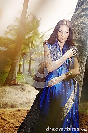 Indian fashion in sari