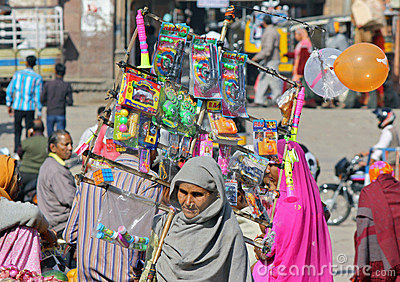 Indian female peddler Editorial Stock Image