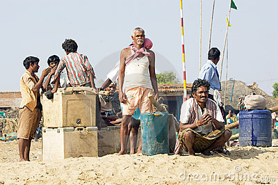 Indian fisherman Editorial Photo