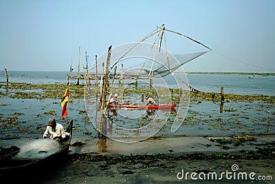 Indian fishermen Editorial Stock Photo
