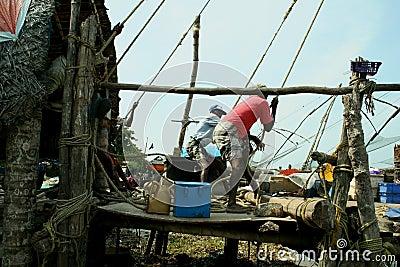 Indian fishermen Editorial Stock Image