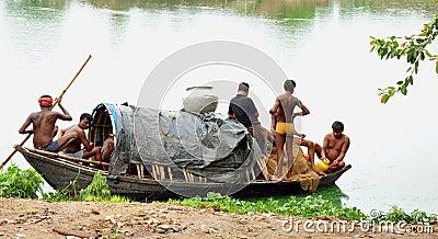 Indian fishermen Editorial Image