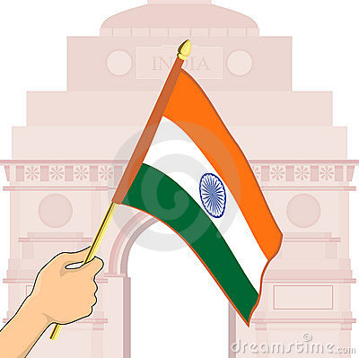 Indian Flag in front of India Gate.