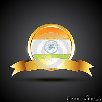 Indian flag label