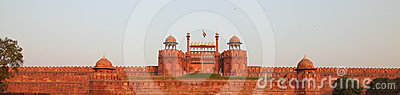Indian Flag on Red Fort